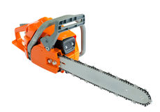 Gasoline powered saw Stock Photography