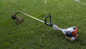 Gasoline Powered String Trimmer Stock Images