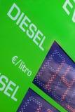 Gasoline price sign - Euro Stock Image