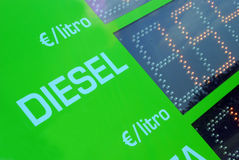 Gasoline price sign - Euro Stock Images