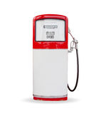 Gasoline pump. Red vintage gasoline pump over white background Stock Photography