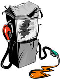 Gasoline pump broken Royalty Free Stock Photos