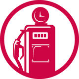 Gasoline pump filling station Stock Photos