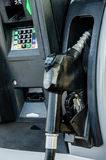 Gasoline pump at gas station Stock Photos