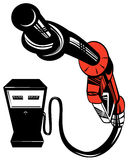 Gasoline pump nozzle Stock Photo