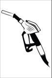 Gasoline pump nozzle Royalty Free Stock Photo