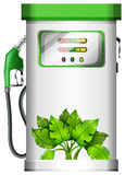A gasoline pump with plants Royalty Free Stock Photos