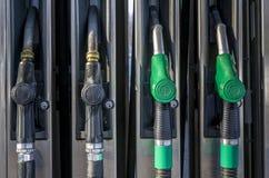 Gasoline pumps at petrol station Stock Image