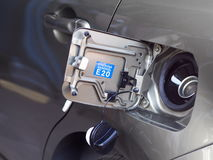 Gasoline refill duct of new contemporary eco car Stock Photography