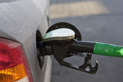 Gasoline refueling Stock Photos