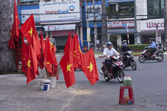 Gasoline sell on the street in Vietnam Stock Photo