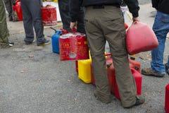 Gasoline shortage Royalty Free Stock Photography