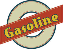 Gasoline Sign Royalty Free Stock Images