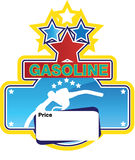 Gasoline sign Royalty Free Stock Photos