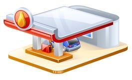 Gasoline station. Vector illustration of gasoline station on white background royalty free illustration