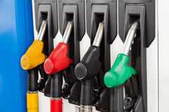 Gasoline station fuel pumps Stock Photos