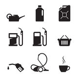 Gasoline station icons Royalty Free Stock Photo