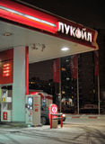 Gasoline station in winter. Kind on a gasoline station in the winter at night Stock Images