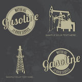 Gasoline symbols. Abstract gasoline symbols on special dirty background vector illustration