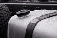 Gasoline tank. Of heavy vehicle Stock Photos