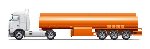 Gasoline tanker illustration Royalty Free Stock Image