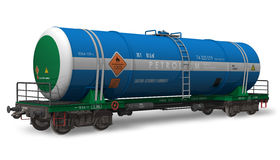 Gasoline tanker railroad car Stock Images