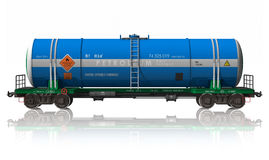 Gasoline tanker railroad car royalty free illustration