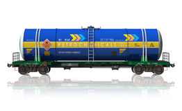 Gasoline tanker railroad car Stock Photo