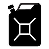 Gasoline vector logo design template. Jerry can of. Jerry can of gasoline on a white background. vector illustration Stock Photo