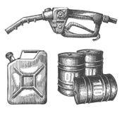 Gasoline vector logo design template. petroleum or Royalty Free Stock Photos