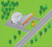 Gasolinera Ilustración del Vector