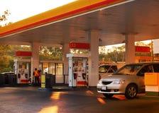Gasolinera Fotografía de archivo libre de regalías