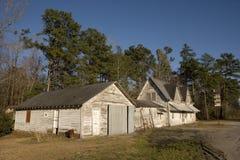 Gasolinera abandonada fotografía de archivo libre de regalías