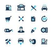 Gasolinera //Azure Series stock de ilustración