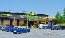Gasolinera de ABC, Finlandia Fotos de archivo