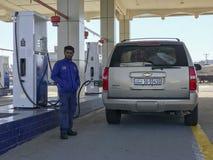 Gasolinera de Al Idrees al lado de la carretera de Makkah-Taif en Makkah, la Arabia Saudita foto de archivo libre de regalías