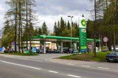 Gasolinera de BP en Zakopane Imagen de archivo libre de regalías