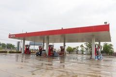 Gasolinera de Caltex Imagen de archivo libre de regalías