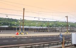 Gasolinera de Eurotunnel Imagen de archivo libre de regalías