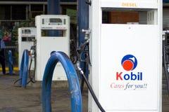 Gasolinera de Kobil fotos de archivo