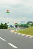 Gasolinera de MOL Group en la carretera húngara Fotos de archivo libres de regalías