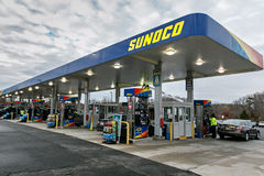 Gasolinera de Sunoco Fotografía de archivo