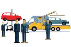 Gasolinera del automóvil Imágenes de archivo libres de regalías