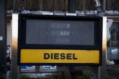 Gasolinera diesel de Seaview Fotografía de archivo libre de regalías