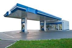 Gasolinera en el día sin los coches Imágenes de archivo libres de regalías