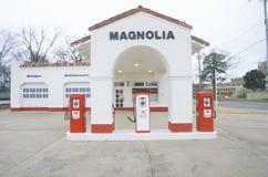 Gasolinera histórica de petróleo de Mobil Fotografía de archivo libre de regalías