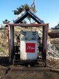 Gasolinera palestina del pueblo Fotos de archivo libres de regalías