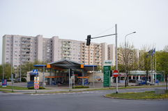 Gasolinera y servicio del coche fotos de archivo