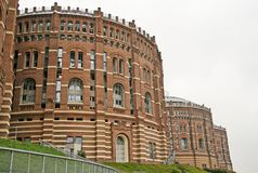 Gasometer buildings in Simmering district, Vienna, Austria Royalty Free Stock Image