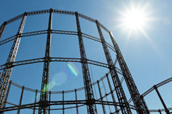 Gasometer. Gas storage tank in London Stock Photo